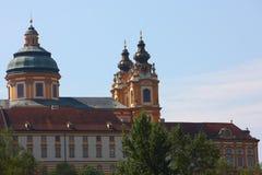 Torre de reloj en la abadía de Melk, verano de Alemania 2011 Fotografía de archivo