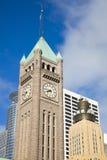 Torre de reloj en Minneapolis Fotografía de archivo libre de regalías
