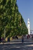 Torre de reloj en Montreal Canadá imagen de archivo