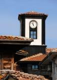Torre de reloj en Nesebar Foto de archivo libre de regalías