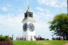Torre de reloj en Novi Sad, Serbia Imágenes de archivo libres de regalías