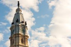 Torre de reloj en Philadelphia fotos de archivo