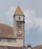 Torre de reloj en Rapperswil Imagenes de archivo