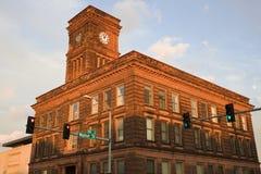 Torre de reloj en Rockford Fotografía de archivo libre de regalías