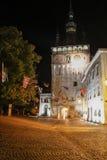 Torre de reloj en Sighisoara Imágenes de archivo libres de regalías
