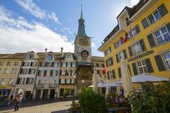 Torre de reloj en Solothurn Imagen de archivo