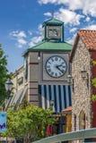 Torre de reloj en un centro comercial en Maryland Foto de archivo libre de regalías