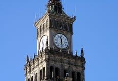 Torre de reloj en Varsovia 3 Fotografía de archivo