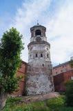 Torre de reloj en Vyborg Imagenes de archivo