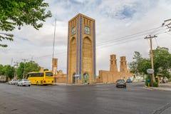 Torre de reloj en Yazd Fotografía de archivo