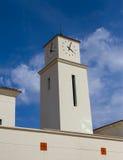 Torre de reloj española nea fotografía de archivo libre de regalías