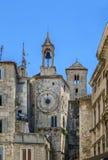 Torre de reloj, fractura, Croacia imagenes de archivo