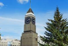 Torre de reloj de Krasnoyarsk en Krasnoyarsk Rusia Fotos de archivo libres de regalías