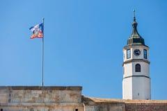 Torre de reloj (kula de Sahat) imagen de archivo libre de regalías