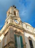 Torre de reloj. Martina Franca. Apulia. imagen de archivo libre de regalías