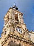 Torre de reloj. Martina Franca. Apulia. foto de archivo