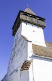 Torre de reloj medieval de la defensa Fotografía de archivo libre de regalías