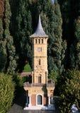 Torre de reloj miniatura Foto de archivo libre de regalías