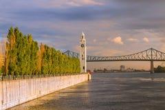 Torre de reloj de Montreal foto de archivo