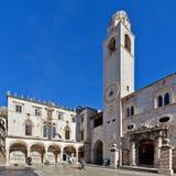 Torre de reloj a partir de 1441. en Dubrovnik, Croatia Fotos de archivo