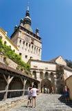 Torre de reloj de Sighisoara imagenes de archivo