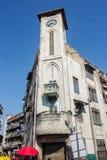 Torre de reloj swaminarayan del templo de Kalupur Imagen de archivo