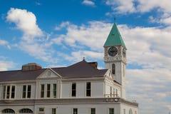 Torre de reloj victoriana en el embarcadero A en parque de batería Imagen de archivo libre de regalías