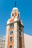 Torre de reloj vieja, con su arquitectura clásica, Hong Kong, ji Imagen de archivo