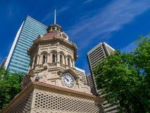 Torre de reloj vieja en Calgary Fotografía de archivo