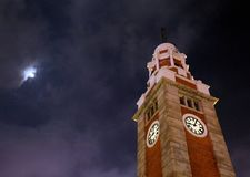Torre de reloj vieja en Hong-Kong imagen de archivo libre de regalías