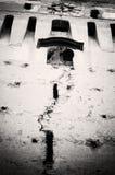 Torre de reloj vieja en Saschiz Foto de archivo