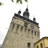 Torre de reloj vieja, Sighisoara, Rumania Fotografía de archivo