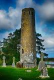 Torre de Rourke del ` de O, Clonmacnoise, Irlanda Imagen de archivo