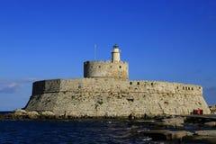 Torre de São Nicolau, o Rodes Foto de Stock Royalty Free