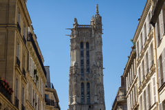 Torre de Saint-Jacques, Paris Fotografia de Stock Royalty Free