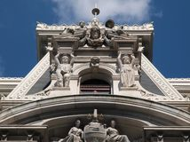 Torre de salão de cidade de Philadelphfia fotografia de stock