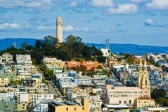 Torre de San Francisco Coit Fotografía de archivo
