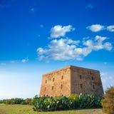 Torre de San Jose för Tabarca ötorn slott Alicante fotografering för bildbyråer