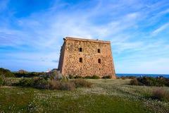 Torre de San Jose na Espanha da ilha de Nova Tabarca foto de stock royalty free