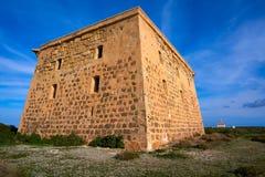 Torre de San Jose na Espanha da ilha de Nova Tabarca fotos de stock royalty free