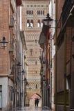 Torre de San Martin Arte Mudejar Herança de Teruel Cidade histórica foto de stock