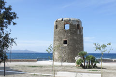 Torre de Santa Lucia Siniscola (Cerdeña) fotografía de archivo libre de regalías