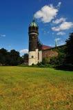 Torre de Schlosskirche Wittenberg imágenes de archivo libres de regalías