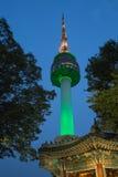 Torre de Seoul em Coreia imagens de stock royalty free