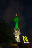 Torre de Seoul na noite fotografia de stock royalty free
