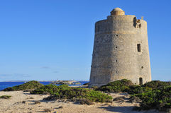 Torre de Ses Portes tower in Ibiza Island, Spain Stock Photo