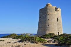 Torre de Ses Portes tower in Ibiza Island, Spain Stock Photo