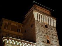 Torre de Settimo en la noche Imágenes de archivo libres de regalías