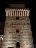 Torre de Settimo en la noche Foto de archivo