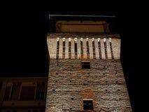 Torre de Settimo en la noche Imagen de archivo libre de regalías